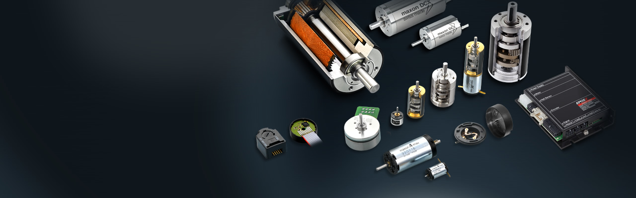 Brushed DC and brushless DC motors, gearheads, encoders and motor controllers:  A one-stop-shop for your individual drive solution